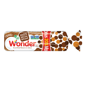Wonder® 100% Whole Wheat Bonus Loaf 810g