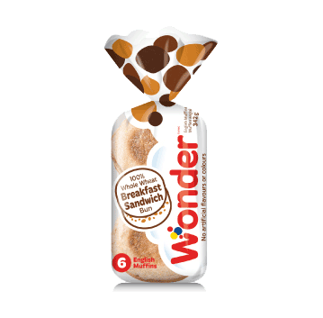 Wonder® 100% Whole Wheat Breakfast Sandwich 6pk