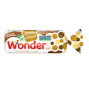 Wonder® 100% Whole Wheat +Fibre Bread 675g