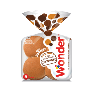 Wonder® 100% Whole Wheat Hamburger Buns 8pk