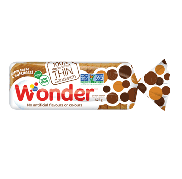Wonder® 100% Whole Wheat THIN Sandwich Bread 675g