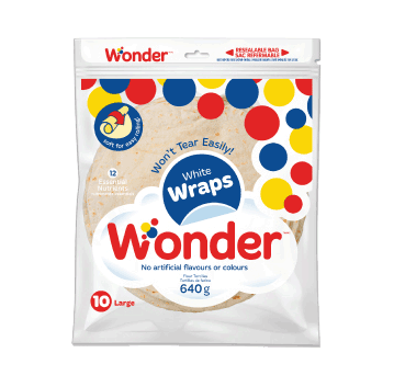 Wonder® White 10″ Wraps 10pk