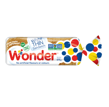 Wonder® White Thin Sandwich Bread 675g